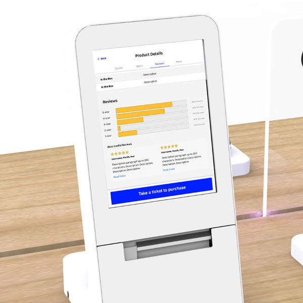 Customer Reviews In-Store Display