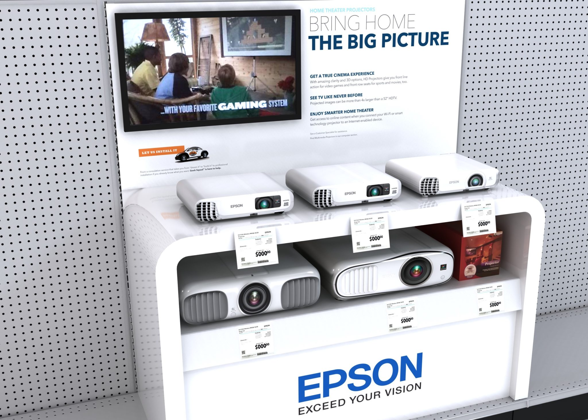 Epson Retail Display with Digital Signage