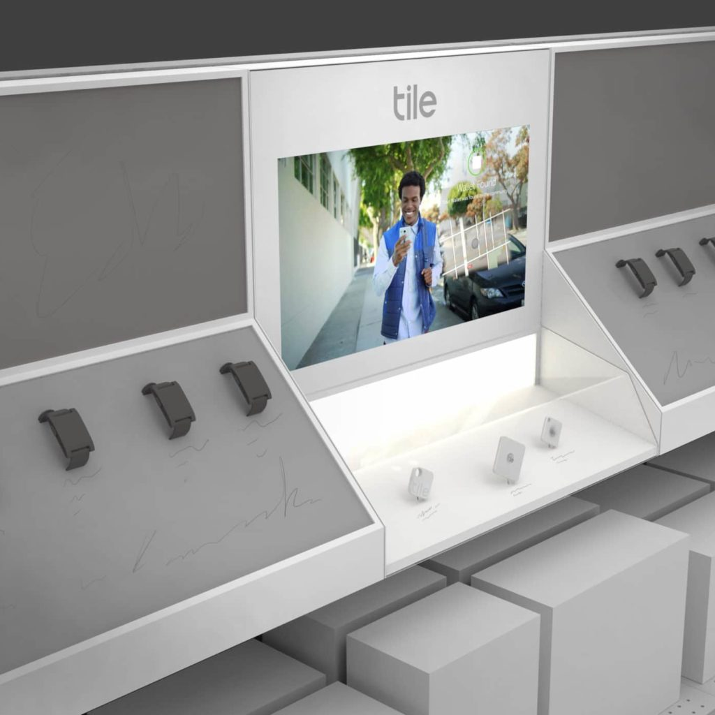Tile Retail Display With Digital Signage