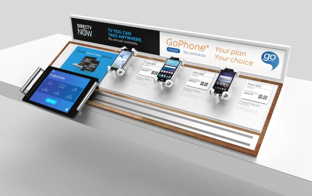 ATT Retail Display With Digital Signage