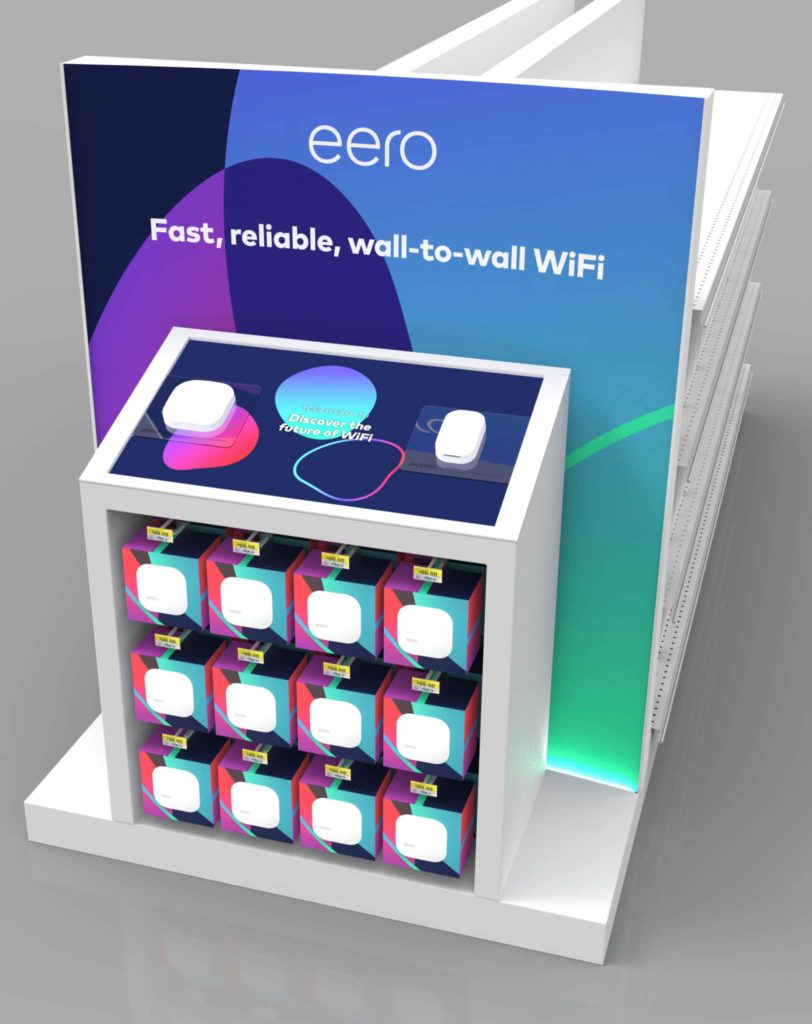 Eero Retail Display With Digital Signage